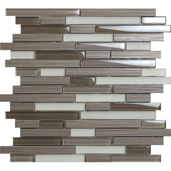 Duo Bambu Dark Aluminum Mosaic Tile in Gray by Kertiles