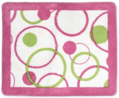 Circles Pink Floor Area Rug by Sweet Jojo Designs