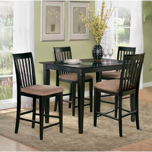 Bluffview 5 Piece Counter Height Solid Wood Dining Set by DarHome Co
