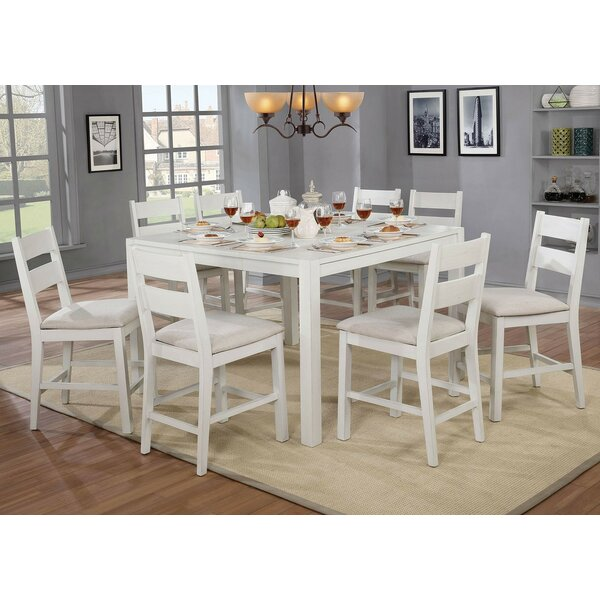 Ponder 9 Piece Counter Height Dining Set by August Grove
