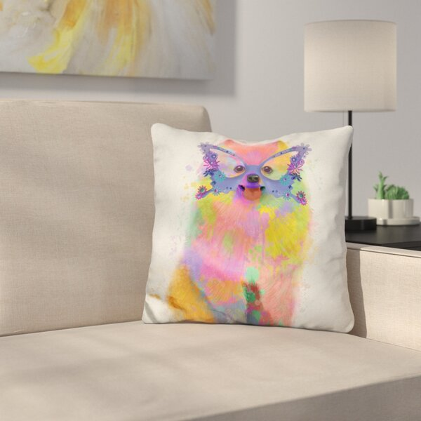 Pomeranian Throw Pillow by East Urban Home