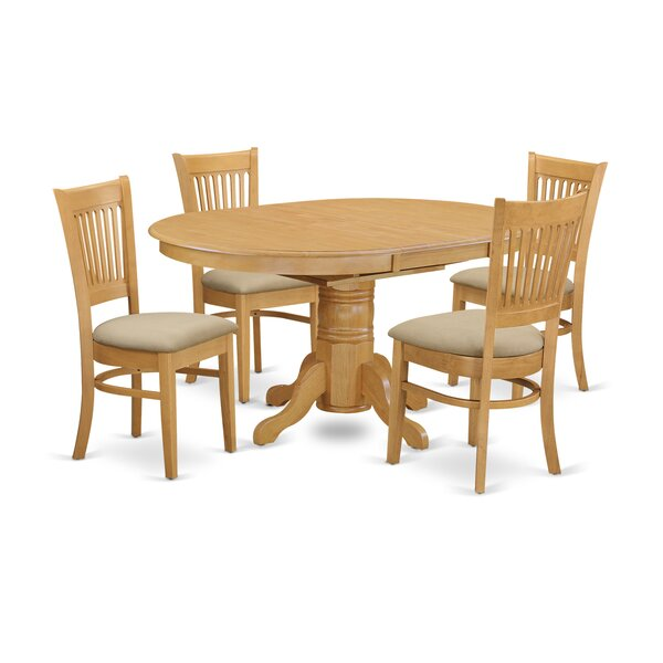 Spurling 5 Piece Extendable Dining Set by August Grove