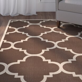 Short Dark Brown Outdoor Area Rug By Winston Porter