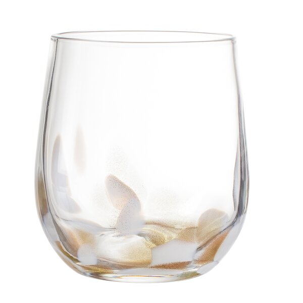 Simone 16 oz. Glass Every Day Glass (Set of 4) by Elle Decor