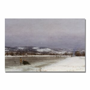 """""""Gathering Christmas Finery"""" by Jervis McEntee Painting Print on Canvas"""