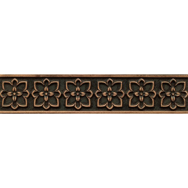 Ambiance Romanesque Liner 2-1/2 x 12 Resin Tile in Venetian Bronze by Bedrosians