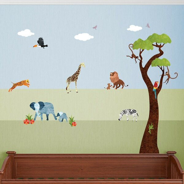 Jungle Safari Peel and Stick Wall Decal by My Wonderful Walls