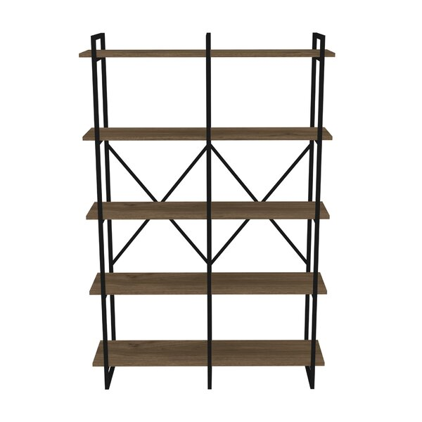 Strange Metal Framed Double 5-Shelf Etagere Bookcase by Gracie Oaks