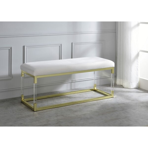 Piersten Upholstered Bench by Everly Quinn