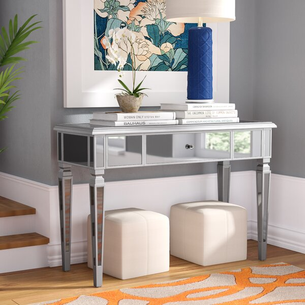 Loganne Mirrored Console Table by Willa Arlo Interiors