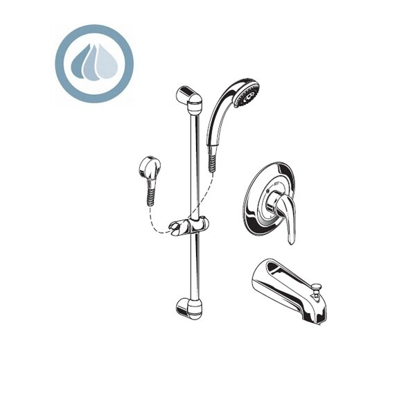 1.5 GPM Commercial Tub and Shower Faucet by American Standard