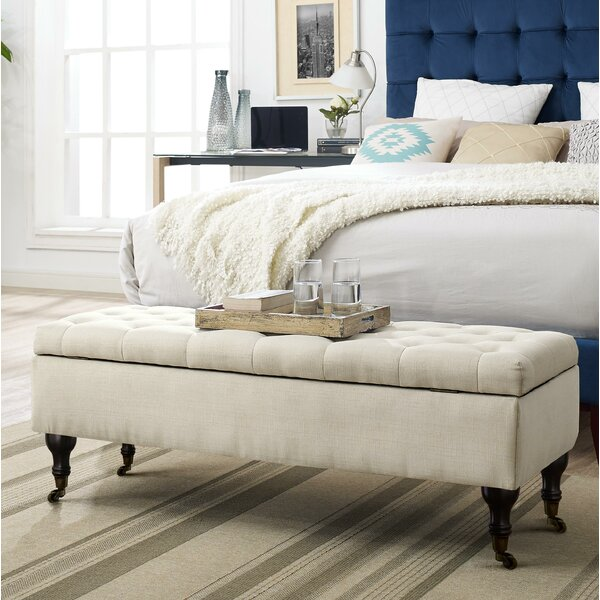 Collette Tufted Upholstered Storage Bench by Elle