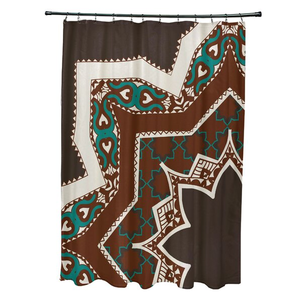Soluri Rising Star Print Shower Curtain by Bungalow Rose