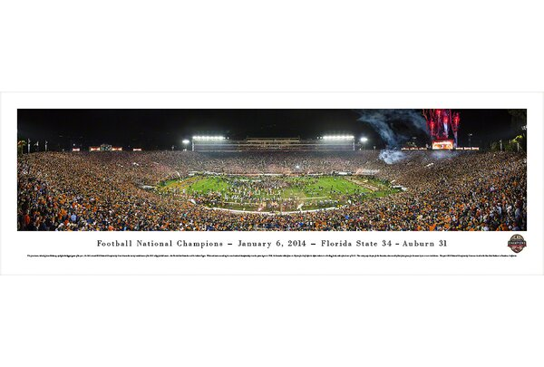 NCAA BCS Football Championship 2014 by James Blakeway Photographic Print by Blakeway Worldwide Panoramas, Inc