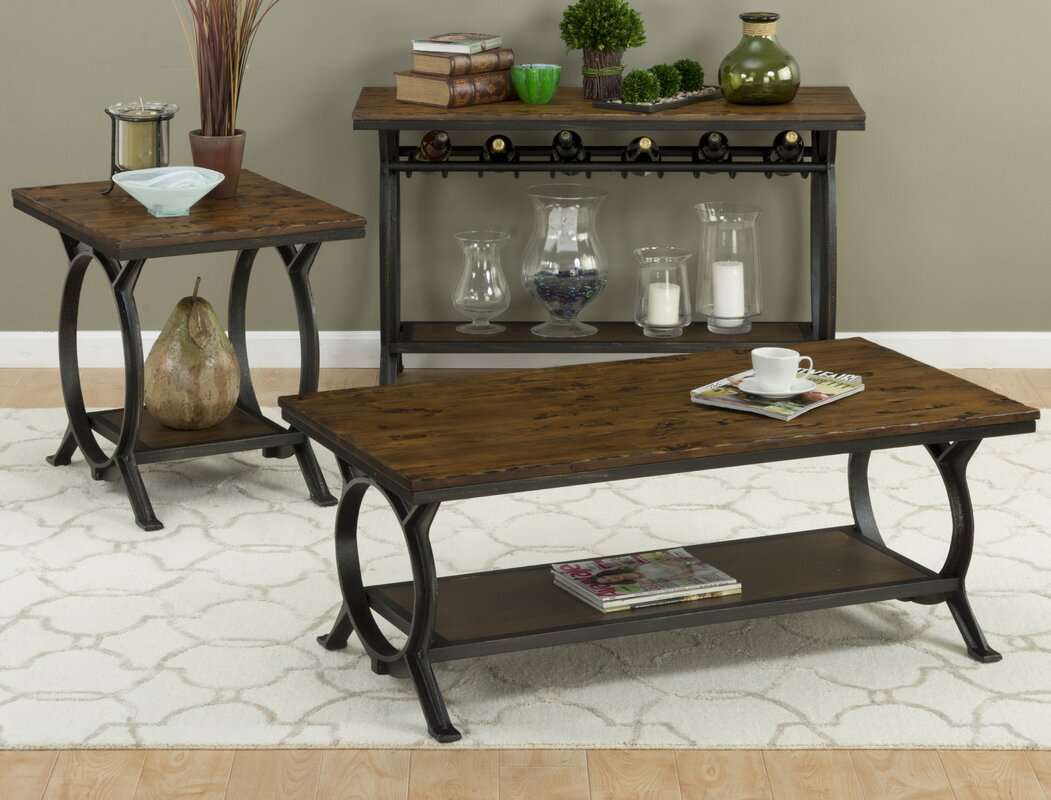 Loon peak red cliff end table reviews wayfair for Red side table