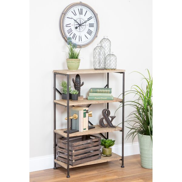 Vezina 4-Shelf Industrial Etagere Bookcase by Gracie Oaks