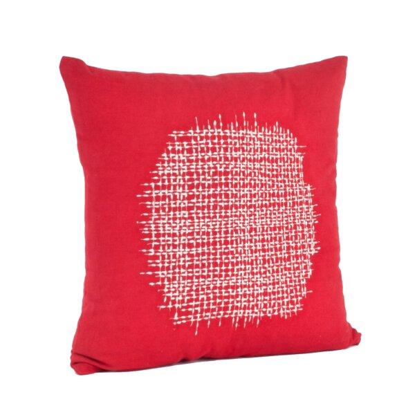 Spice Market Stitched Design Cotton Throw Pillow by Saro