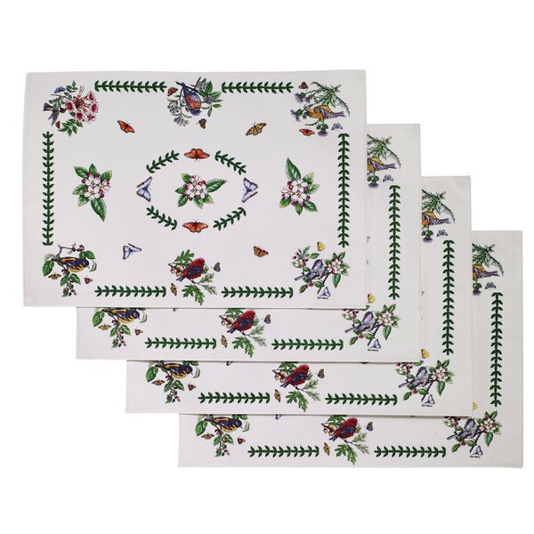 Botanic Birds Placemat (Set of 4) by Avanti Linens