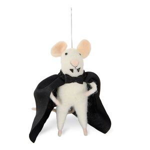 Hallo-Mouse Vampire Vlad Ornament (Set of 2)