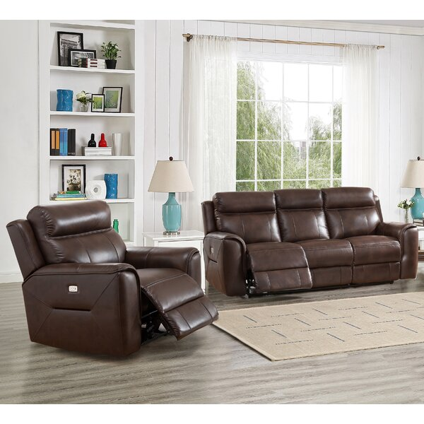 Efren Reclining 2 Piece Leather Living Room Set by Red Barrel Studio Red Barrel Studio
