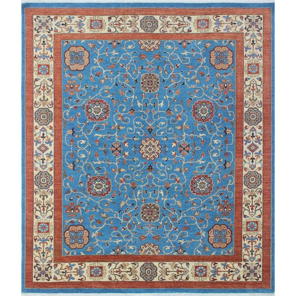 One-of-a-Kind Woodmoor Fawad Hand-Knotted Wool Blue Area Rug by Loon Peak