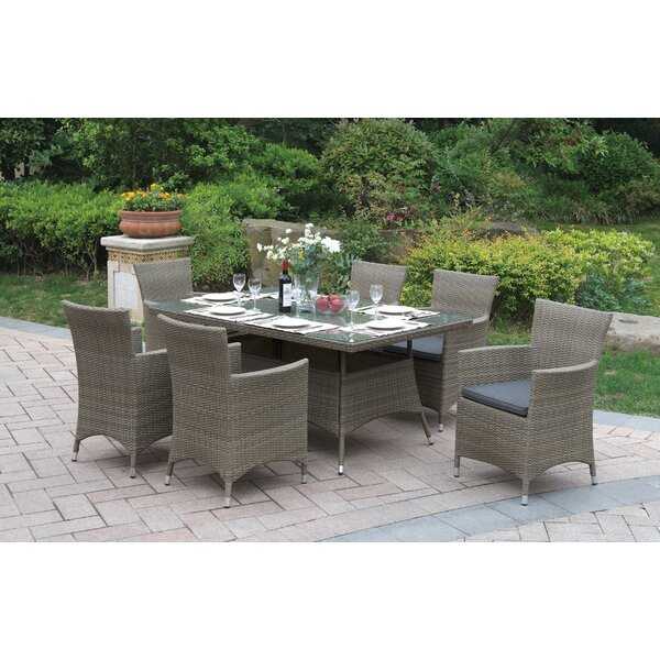 Deloris 7 Piece Dining Set with Cushions by Darby Home Co