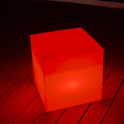 Cube Sharp Deck Lighting Accent Stool by Smart & Green