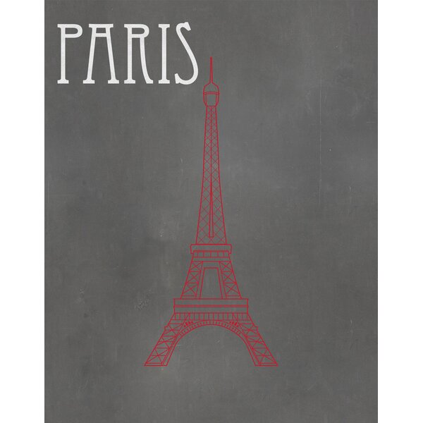 Paris Graphic Art Paper Print by Secretly Designed