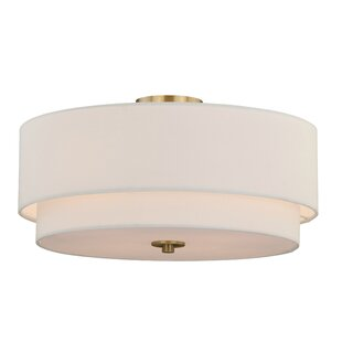 Top Reviews Burnaby 4-Light Semi-Flush Mount By Vaxcel
