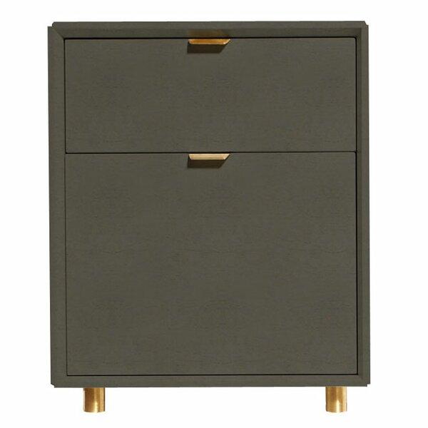 Dang 2 Drawer File Cabinet by Blu Dot