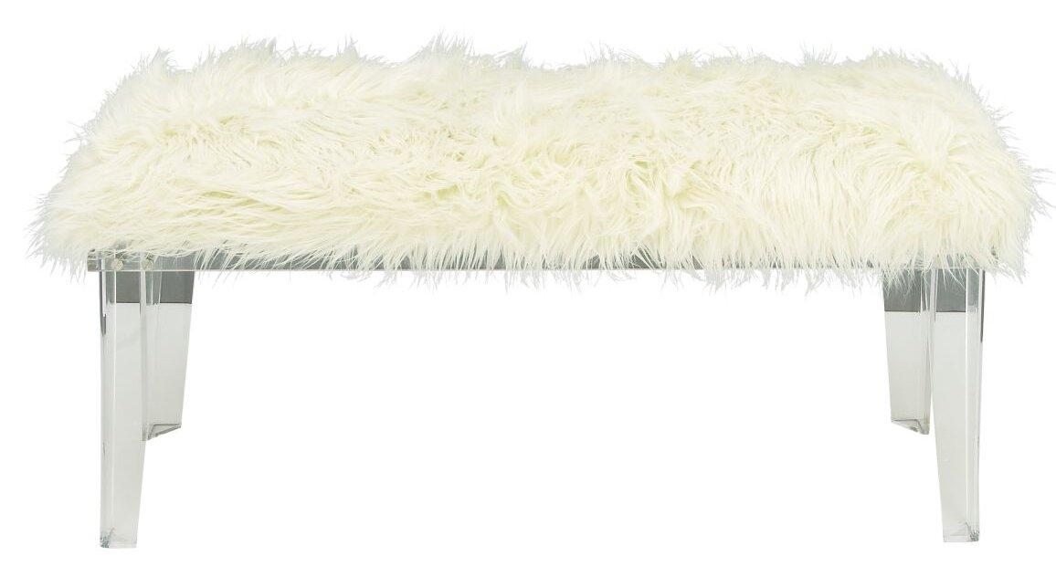 default_name - Cole & Grey Acrylic And Fur Bench & Reviews Wayfair