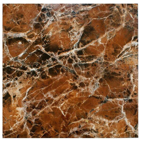 Elypse 17.75 x 17.75 Ceramic Field Tile in Marbled Marron by EliteTile