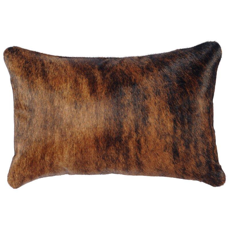 Loon Peak Dietrich Leather Lumbar Pillow Reviews Wayfair