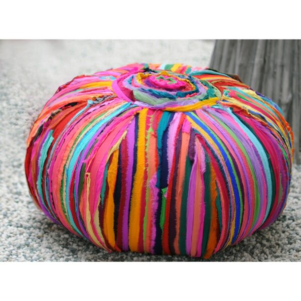 Bono Handmade Upholstered Pouf by Bungalow Rose