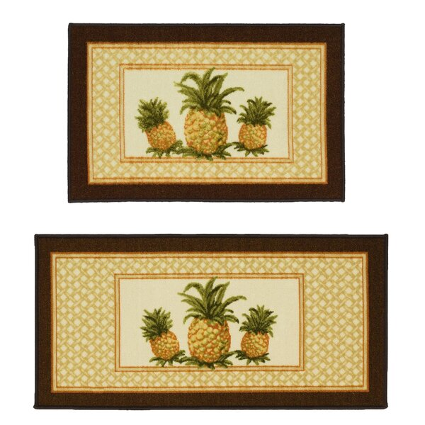 Pineapple 2 Piece Novelty Rug Set by Madison Home