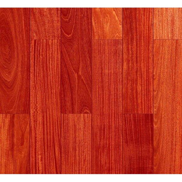Myra 3.5 Solid Santos Mahogany Hardwood Flooring in Smooth Natural by Welles Hardwood