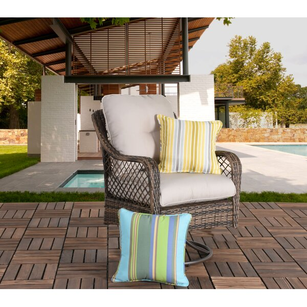 Ware Wicker Swivel Patio Chair with Cushions by Bay Isle Home