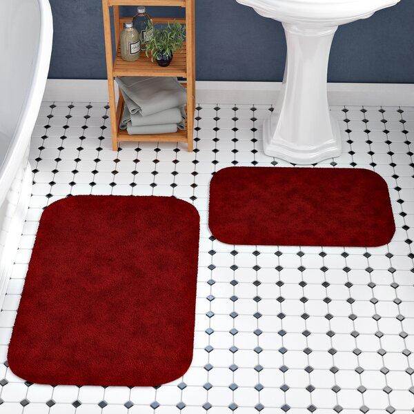 Navy Blue Hotel Collection 3 Piece Premium Prestige Bath rug set 100/% Polyester