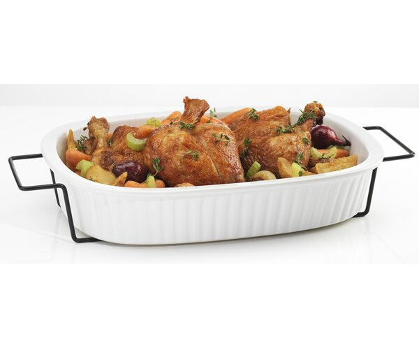 Rectangular 2 qt. Baking Dish with Rack by Home Essentials and Beyond