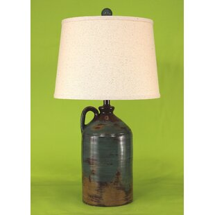 Pottery jug lamps wayfair rustic living handle pottery jug 275 table lamp mozeypictures Images