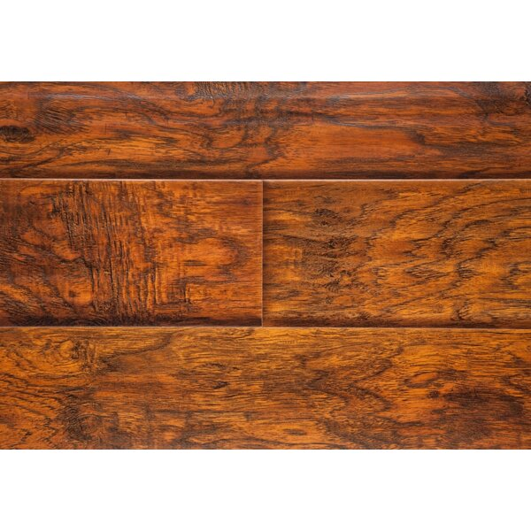 6 x 48 x 12mm Laminate Flooring in Sunset Hickory by Chic Rugz