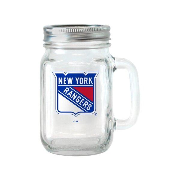 NHL Glass 16 oz. Mason Jar (Set of 2) by Boelter Brands