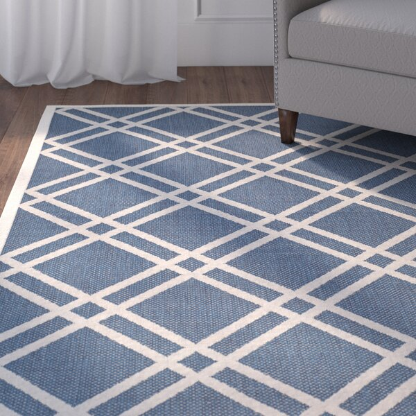 Herefordshire Ivory/Blue Indoor/Outdoor Area Rug by Winston Porter