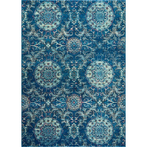 Moller Lana Blue Area Rug by Bloomsbury Market