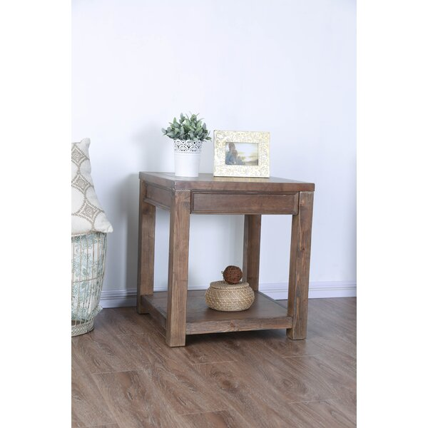 Caius End Table by Millwood Pines