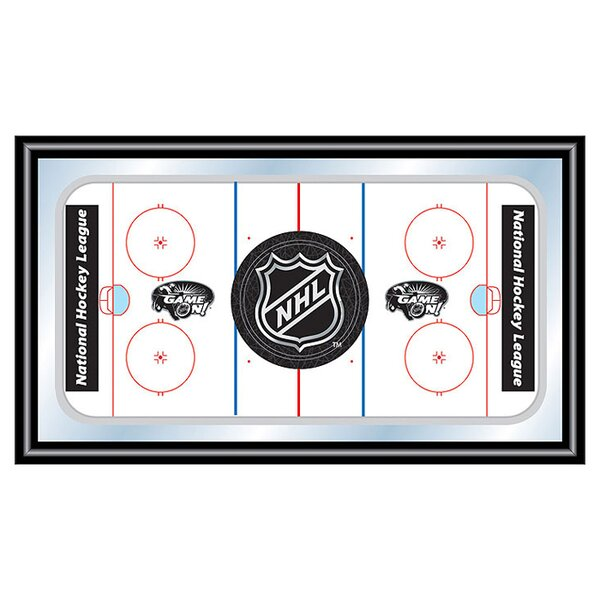 NHL Hockey Rink Framed Graphic Art by Trademark Global