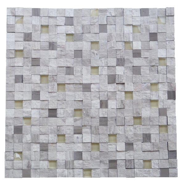 Avenue 0.5 x 0.5 Engineered Stone Splitface Tile in Gray by Mulia Tile