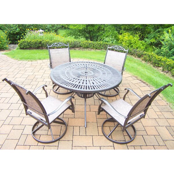 Basile 5 Piece Dining Set By August Grove