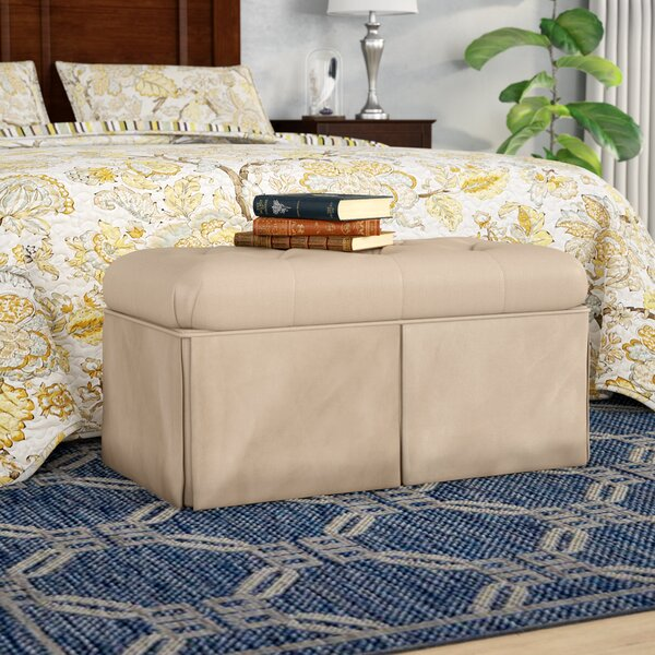 Upholstered Flip Top Storage Bench By Alcott Hill