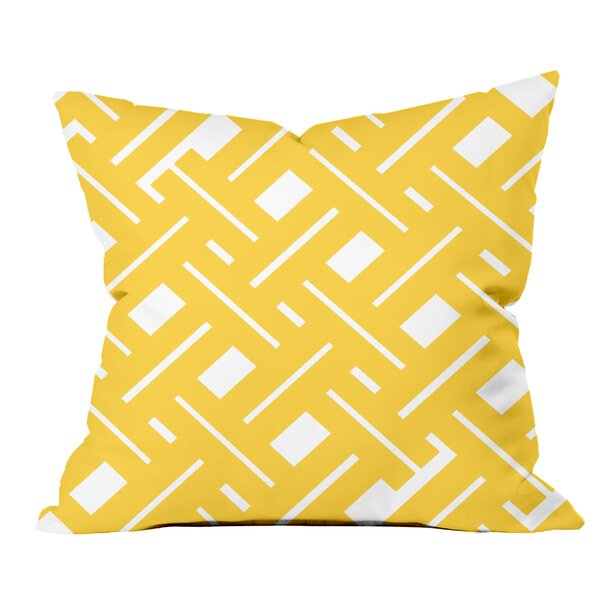 Garden Fencing Geometric Throw Pillow by Positively Home